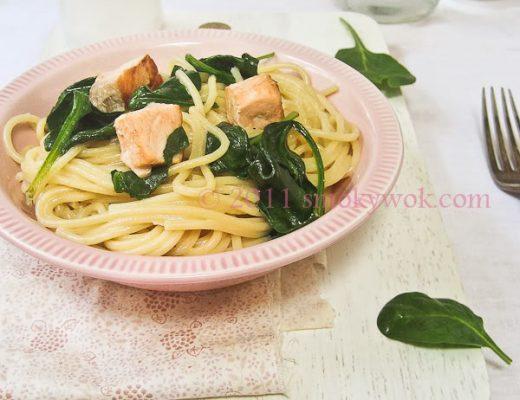 Creamy Salmon Spaghetti Recipe